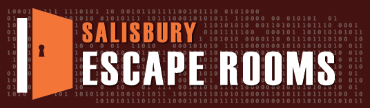 Salisbury escape rooms logo on brown
